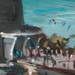 Gerard_Byrne_Seapoint_Sizzles_in_Heatwave_contemporary_impressionism_plein_air_fine_art_gallery_dublin_painting_detail