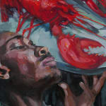 Gerard_Byrne_Precious_Memories_contemporary_figurative_art_painting_detail