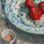 Gerard_Byrne_Afternoon_in_the_Studio_contemporary_impressionism_figurative_fine_art_painting_detail
