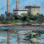 Gerard_Byrne_Always_Sunday_Sandymount_Strand_painting_detail_contemporary_impressionism_fine_art_gallery_Dublin_Ireland