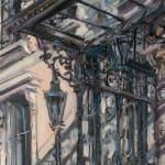 Gerard_Byrne_Spring_Shadows_Mansion_House_Dublin_modern_irish_impressionism_painting_detail