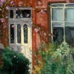 Gerard_Byrne_irish_artist_Waiting_For_the_Sun_Eglinton_Road_Dublin_modern_impressionism_painting_detail