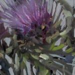 Gerard_Byrne_Artichoke_Blossom_contemporary_impressionism_painting_detail_fine_art_gallery_Dublin_Ireland