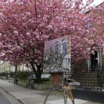 Gerard_Byrne_irish_artist_painting_plein_air_Afternoon_on_Grantham_Street_Dublin_modern_impressionism