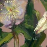 Gerard_Byrne_Pink_Sensation_Winter_Rose_contemporary_impressionism_painting_detail