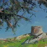 Gerard_Byrne_Deep_Turquoise_Dalkey_Island_contemporary_impressionism_painting_detail