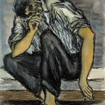 Syed Sadequain, Untitled (Self Portrait with Signatures), circa 1964