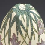 Tiffany Scull, Yellow Antelope Orchid sgraffito vessel