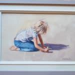 Nicholas St John Rosse RSMA, Writing in wet sand