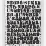 Glenn Ligon, Study for Negro Sunshine II, #31, 2011