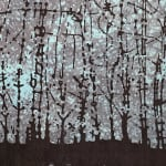 Eve Stockton, Woodland Skyscape black and white with green, 2005