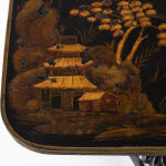 19th Century Regency Chinoiserie Lacquered Occasional Table