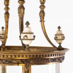 SOLD, 19th Century Gilt Bronze Hall Lantern