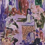 Salman Toor, Art Room, 2020