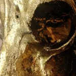 ANGELA MORRIS-WINMILL, WHITE DIAMOND DUST WITH FLORENTINE GOLD HORNS