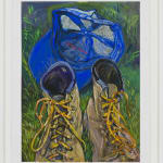Rebecca Ness, Drying outside the tent , 2021