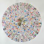 Colorful, circular paper collage