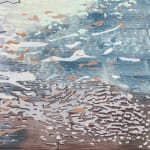 Detail of Abstract painting on canvas