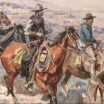 Charles M. Russell [1864-1926], ROPING STEER