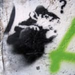 Banksy, Sword Rat aka Lock Pick Rat from Brighton., ca. 2003