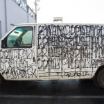 Retna, Spray Paint on Econoline Van (Rear Right Door), 2010