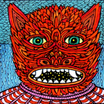 Theo Ellsworth, Starry Mouthed Lava-Bat Kid, 2019