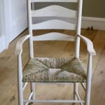 The Marchmont Workshop, 5 Rung Ladder Back Rush Seated Armchair, 2021