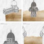 Elena Sorokina, Alluvione / Flood (III) - tetraptych, 2021