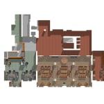 Sutherland Hussey Harris, Architectonic landscapes - Embedded furniture, New Club, Edinburgh