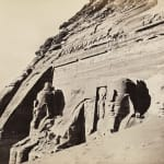 Francis Frith, Facade of the Great Rock Temple, Abu Simbel, c. 1860