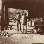Carleton Watkins, Charging the Furnaces, New Almaden, 1863