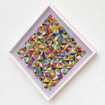 Sean Newport abstract colorful wall sculpture