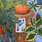 Anna Valdez - colorful oil painting with plants