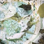 Gregory Euclide mixed media abstracted nature scene detail