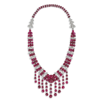 An Art Déco ruby and diamond necklace