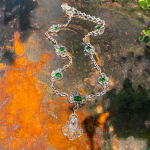 A demantoid garnet and diamond necklace