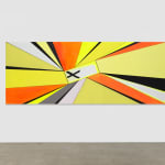 Thomas Scheibitz yellow and orange abstract painting scale view