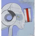 thomas scheibitz blue abstract painting