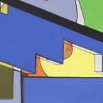 Thomas scheibitz abstract painting detail view