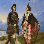 Attr. Schoppe, Two Scottish soldiers in a Highland landscape