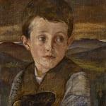 Phoebe Anna Traquair HRSA, Boy and sheep, 1891
