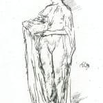 Leon Augustin Lhermitte, Une rue a Bourges, c.1885