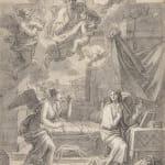 Alexander Runciman, The Annunciation, a study for an altarpiece, after Francois Verdier (1651-1730)
