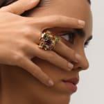 Aisha Baker, Frozen in Time - Peony Symphony Ring