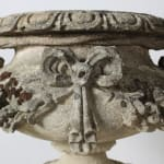 Pair Of Large 19th Century Carved Stone Keystones