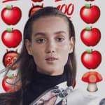 Roe Ethridge, Amalie Moosgaard with Emojis, 2017
