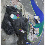 David Humphrey Broken Bags acrylic on printed vinyl