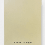 VERONIKA SPIERENBURG X KODOJI PRESS, IN ORDER OF PAGES , 2019
