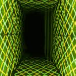 Iván Navarro, Diamante Duplo (Amarelo-Verde) | Double Diamond (Yellow-Green), 2020