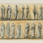 Henry Moore, Untitled XXXVII (Shelter Sketchbook) , 1967